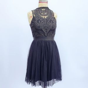 Lovely Xhilaration black gothic lace dress.